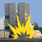 Case study for the application of deconstruction criteria when implosion is used for demolition
