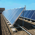 Solar collectors for domestic hot water production