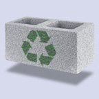 Introduction of recycled materials in the database of a public developer